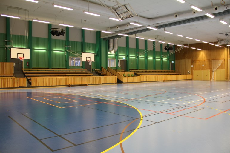 Pitholms Sporthall A-hall läktare